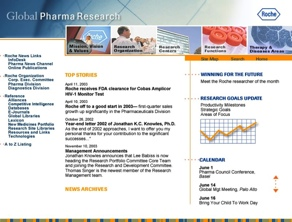 intranet site for Roche pharmacuticals